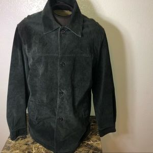 Large Hathaway leather button jacket